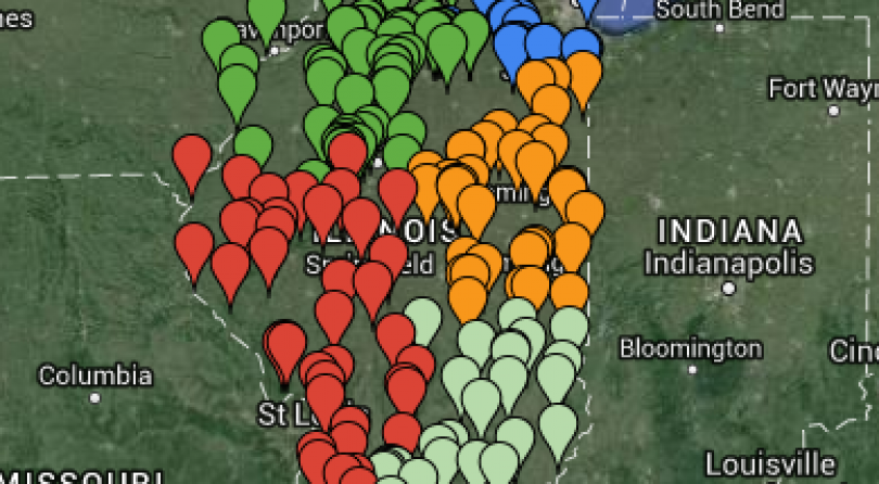 Illinois Public Hunting Areas Map